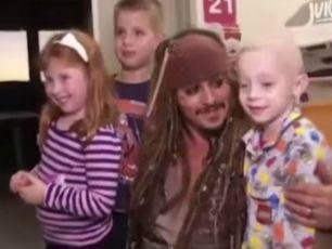 Johnny Depp Surprises Sick Children In Oz