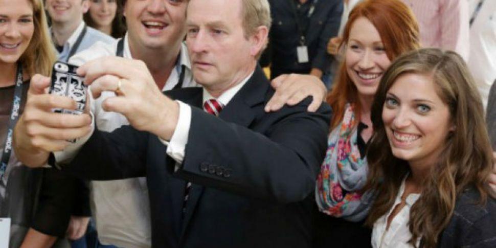 Irish people love taking selfi...