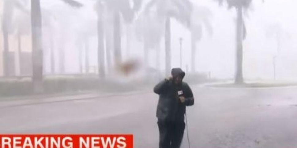 Reporters Take Battering During Hurricane Irma