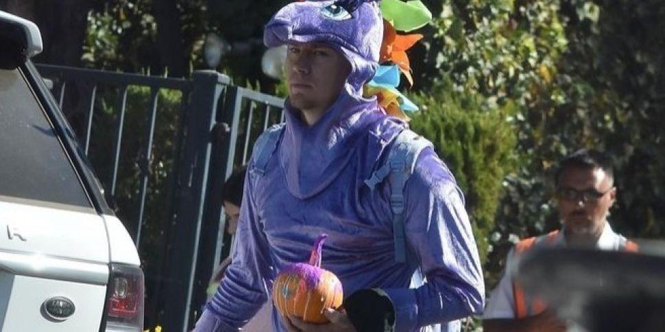 Channing Tatum Attends Preschool Halloween Carnival As Unicorn