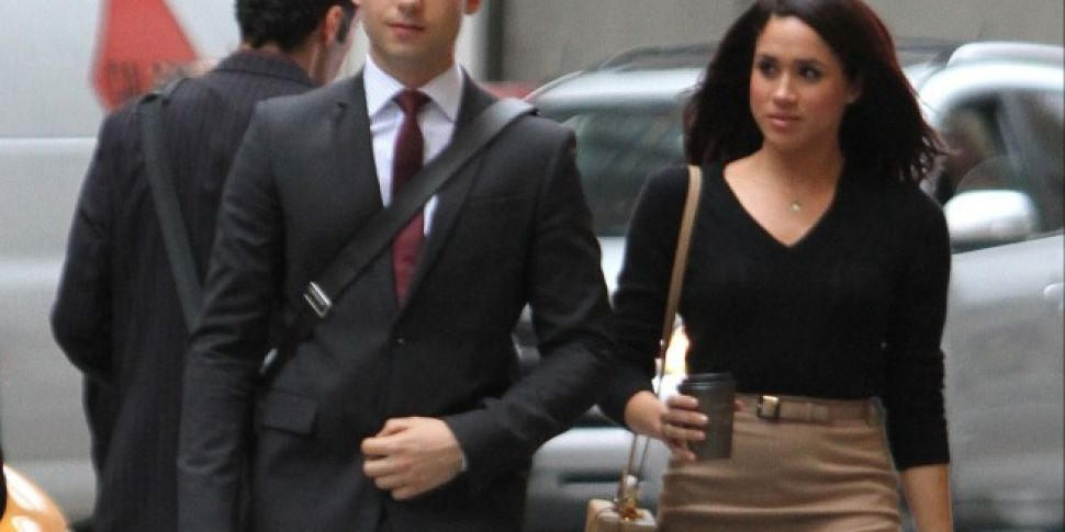 Meghan Markle And Patrick J Adams Leave Suits