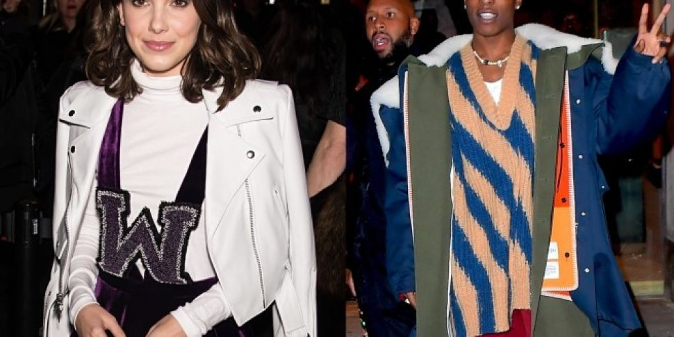 Millie Bobby Brown And ASAP Rocky Hang Out At NYFW Show