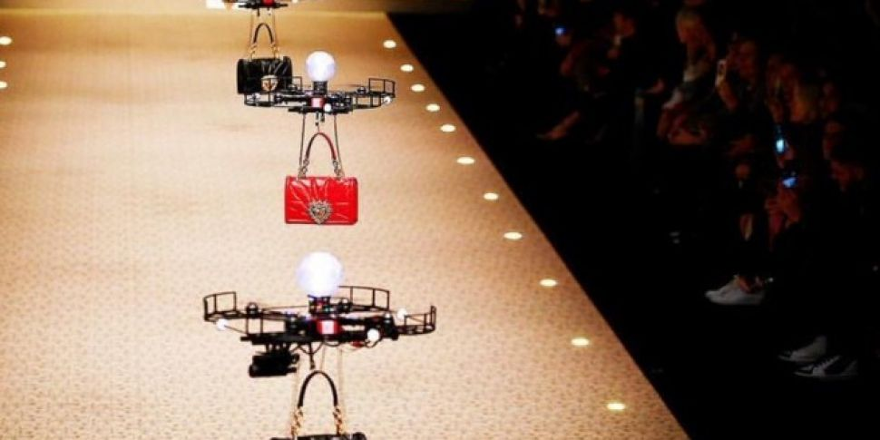 Drones Were Used Instead Of Models At This D&G Fashion Show