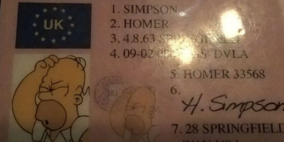 Guy Tries To Pass As Homer Simpson On Driving License