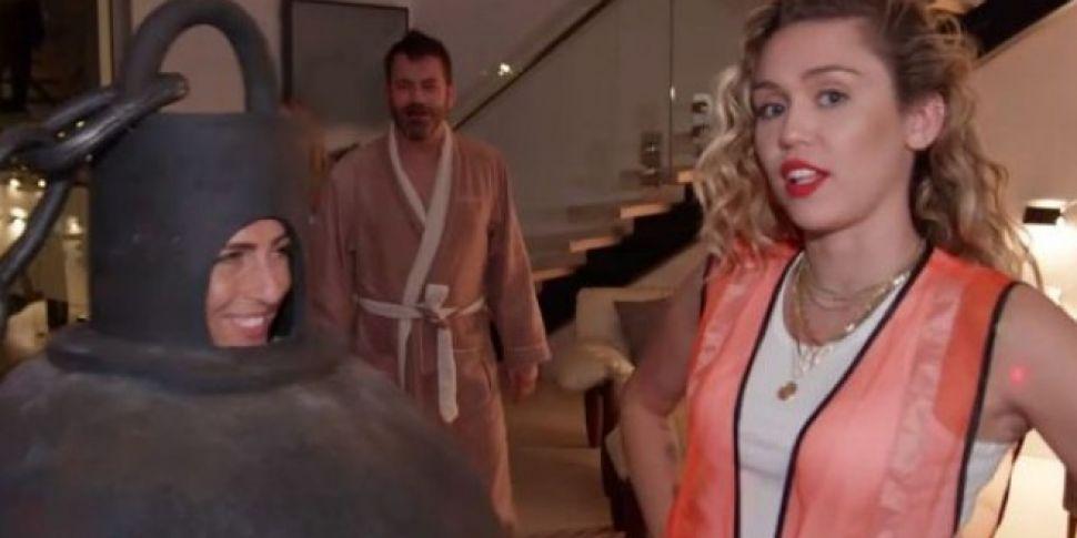 Watch   Miley Cyrus Prank A Sl...