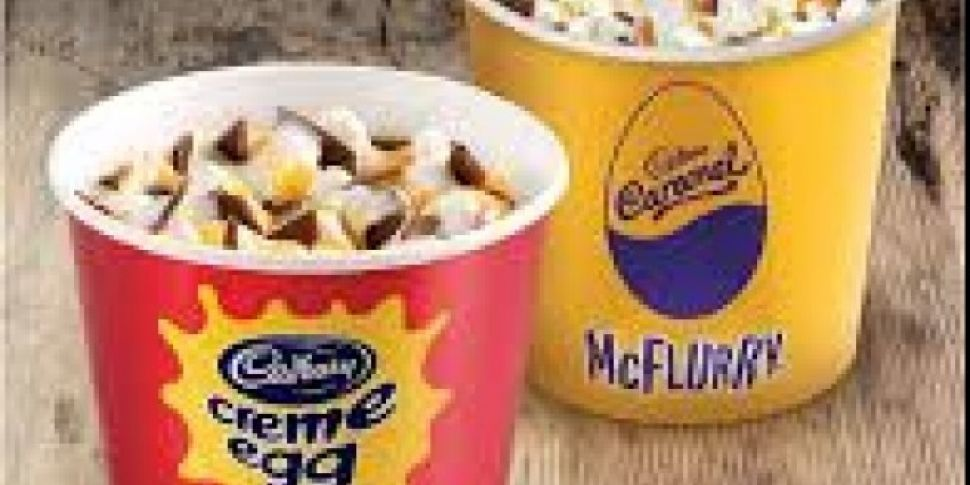 McDonalds Brings Back Creme Egg And Caramel McFlurry Just In Time For Easter