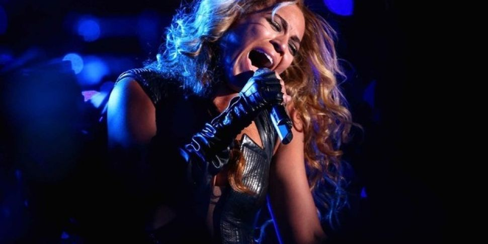 Just jamming with Beyonce, as...