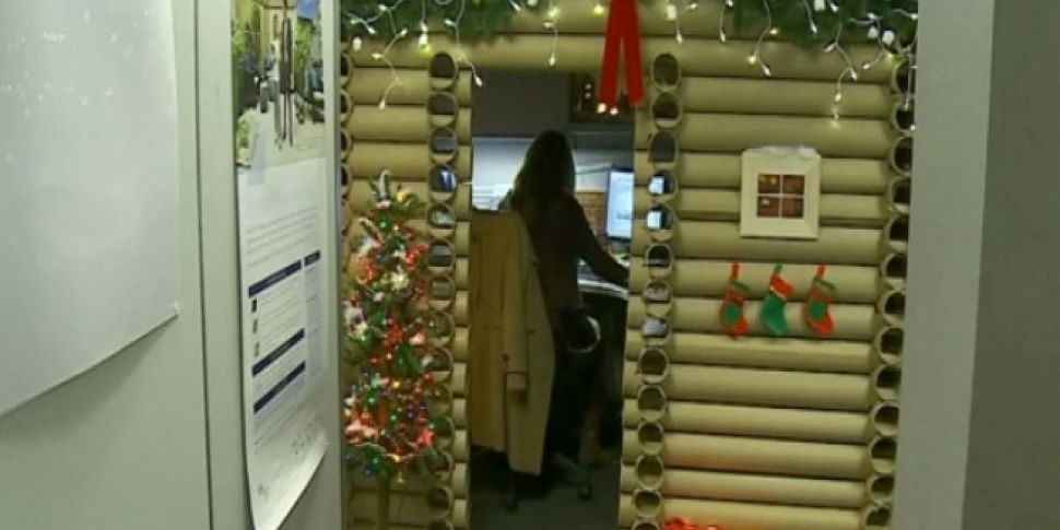 Epic Christmas Office Cubicle