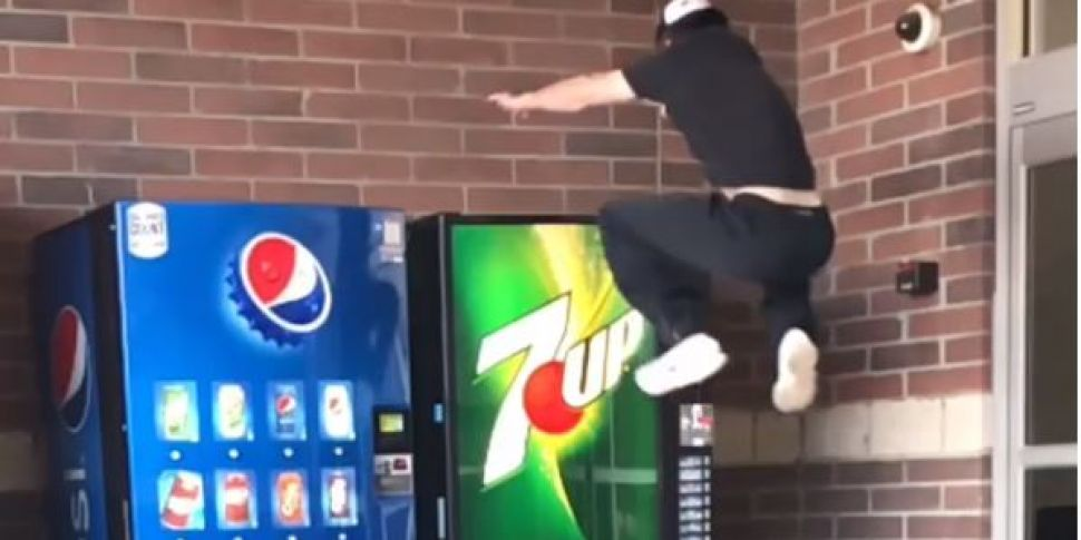 This Lad's Party Trick Is Jump...