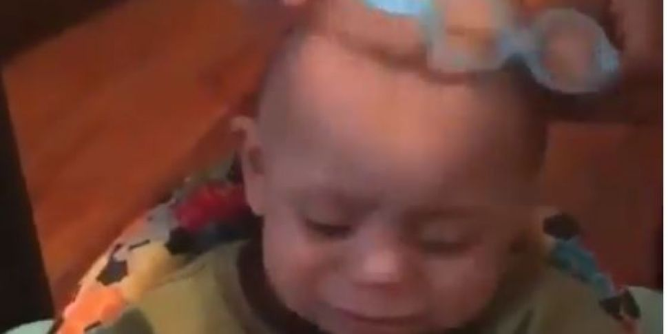 This Video Of A Baby Getting G...