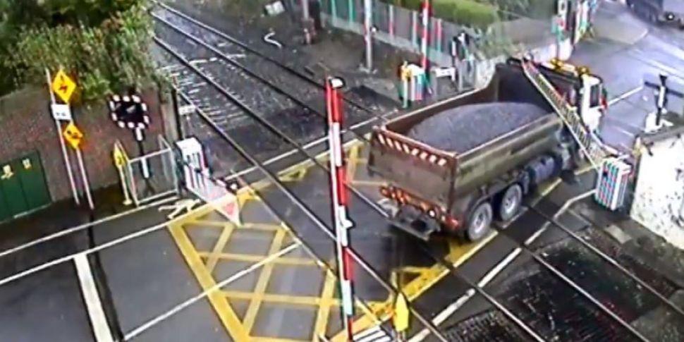 Irish Rail Video Shows Near Mi...