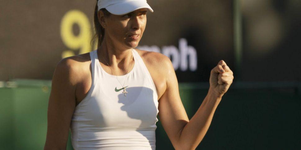 Sharapova to warm up for Wimbl...