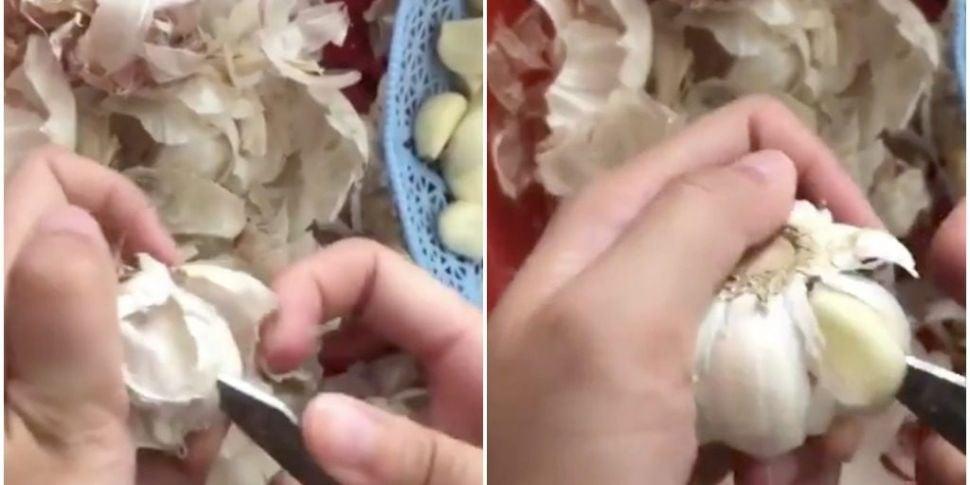 Garlic Peeling Hack Goes Viral...