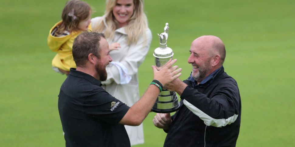 Shane Lowry handed his father...