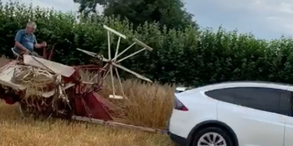 A Tesla Turns Into A Tractor T...