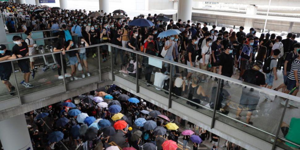 Protestors Blockade Hong Kong...