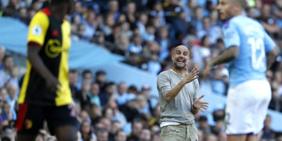Pep Guardiola praises players...