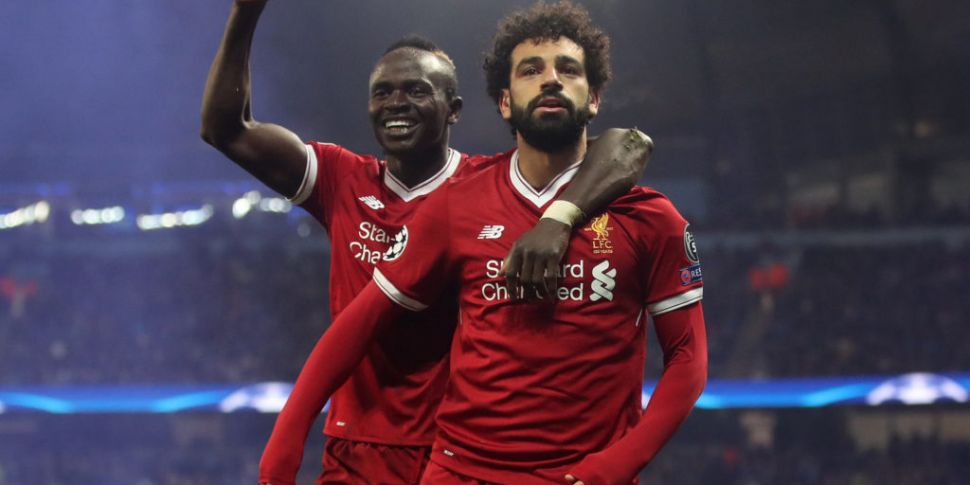 Liverpool players were taking...