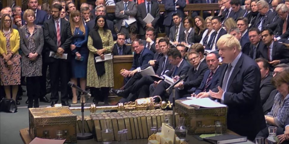 Commons Debating Johnson's Bre...