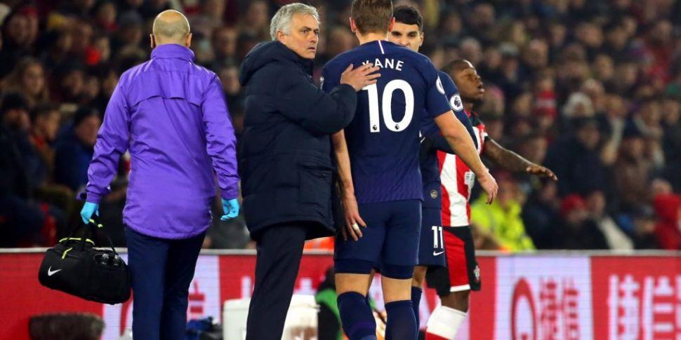 Tottenham striker Harry Kane o...