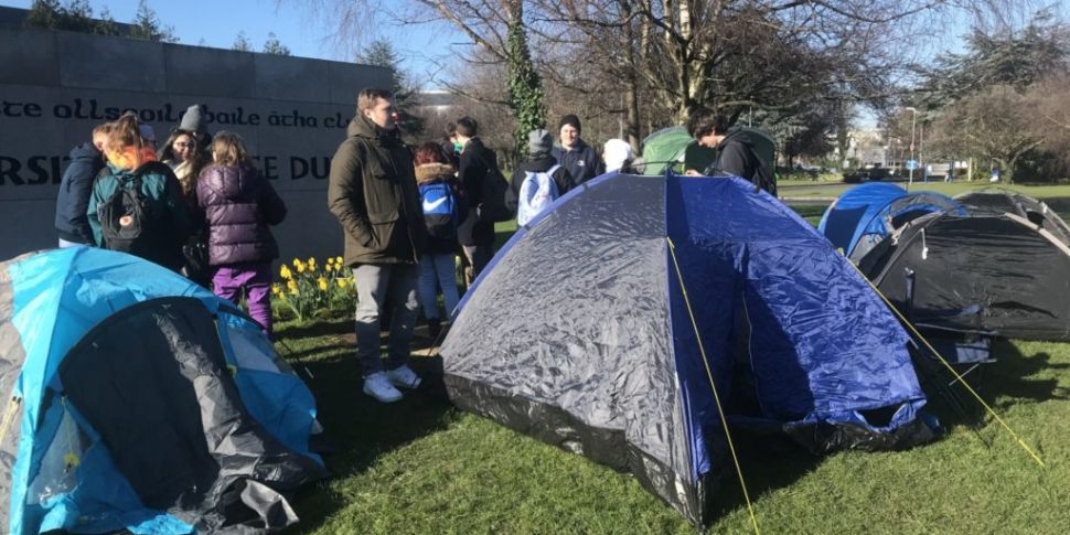 Students Pitch Tents At UCD Ca...