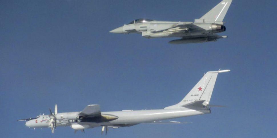 RAF Jets Intercept Russian Air...