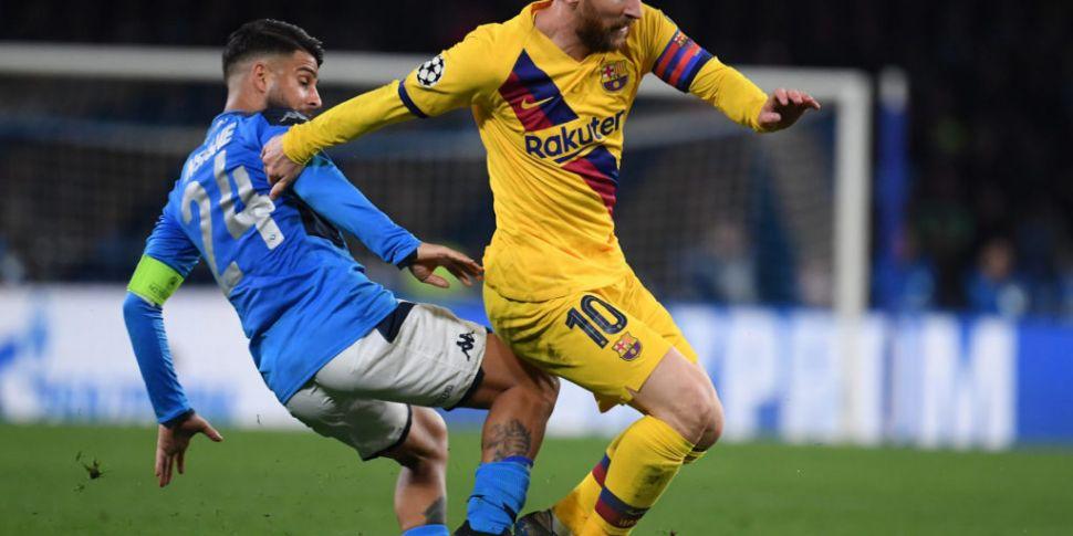 Barcelona and Napoli to be pla...