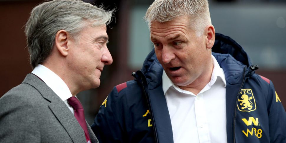 Aston Villa boss Dean Smith ad...