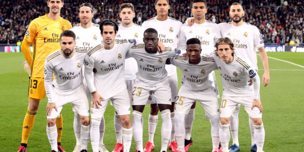 Real Madrid players and execut...