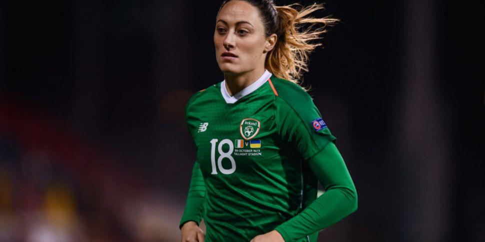 Ireland defender Megan Campbel...