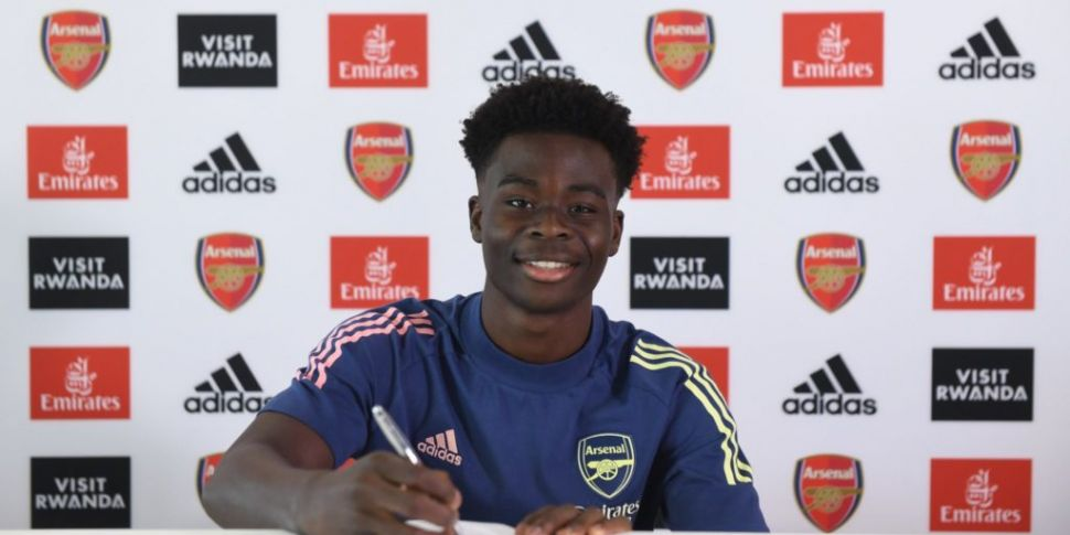 Long-term signee Saka 'represe...