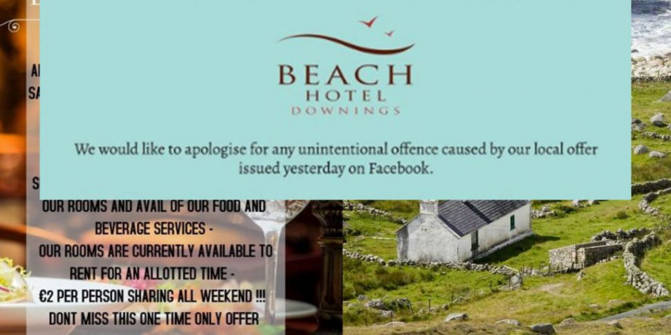Donegal Hotel Apologises After...
