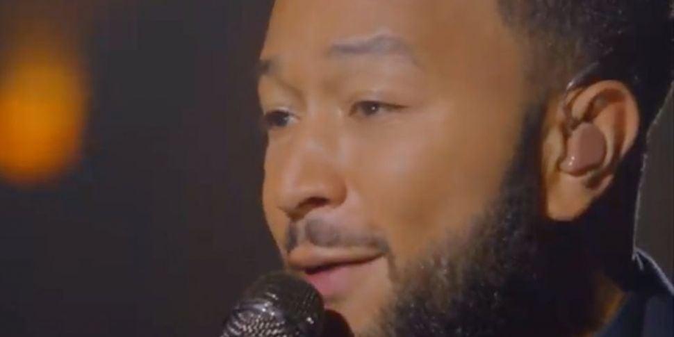 John Legend Performs Emotional...