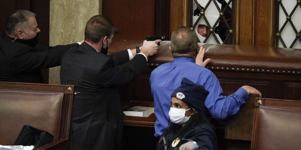 US Capitol Under Lockdown Afte...