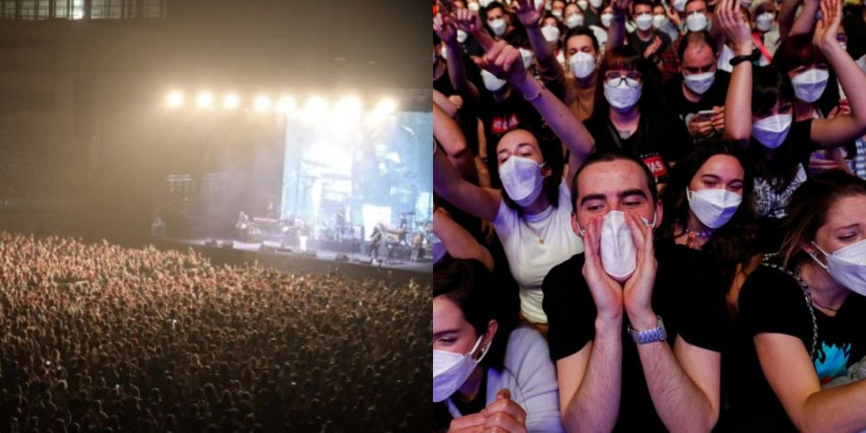5000 People, Face Masks And Te...