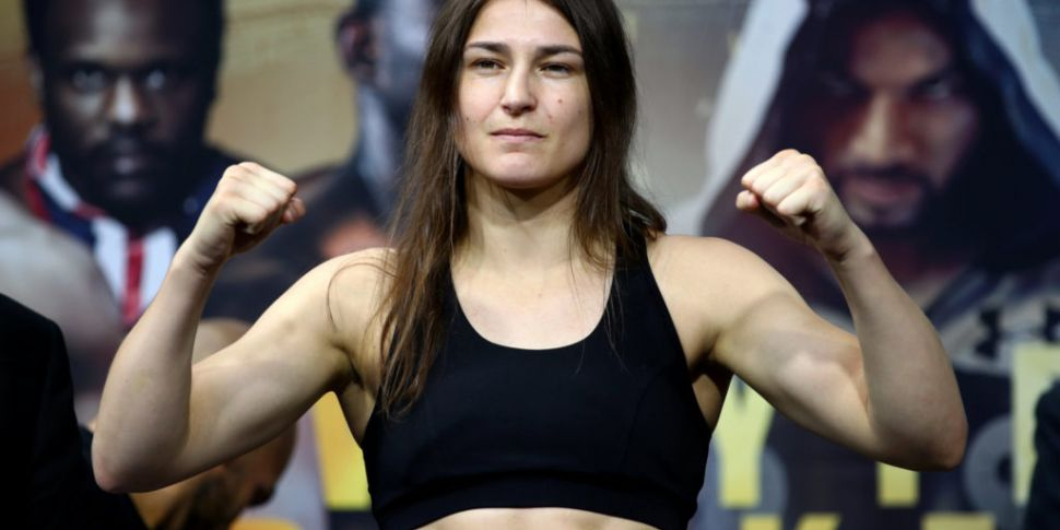 Katie Taylor Arrives Home To H...