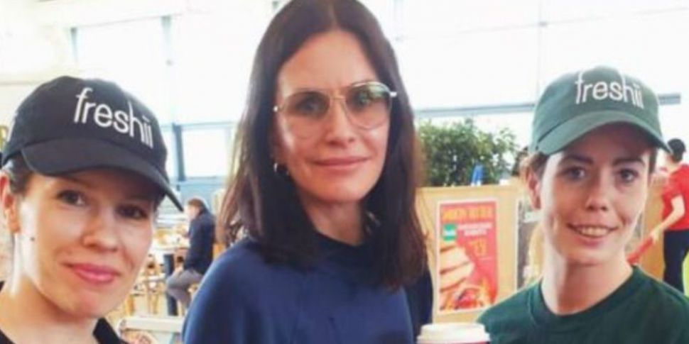 Courtney Cox Spotted In Lusk