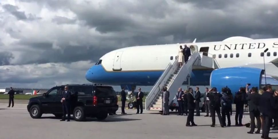 Donald Trump Touches Down At S...