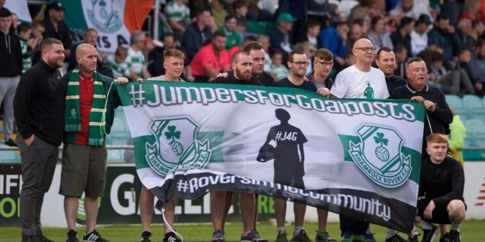 Shamrock Rovers hand pitch ove...