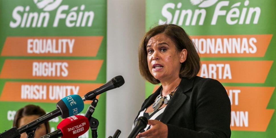 Sinn Fein Leader Calls For Bor...