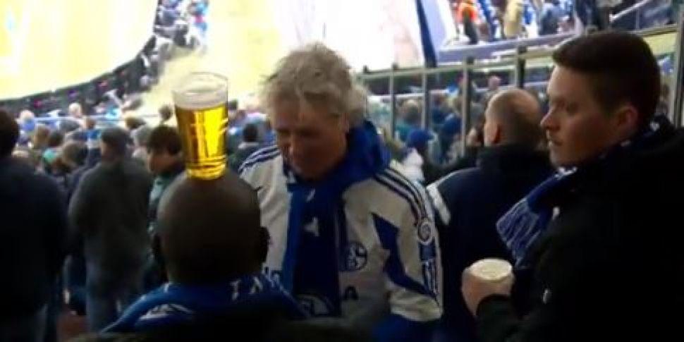Football Fan Brings Pint To Se...