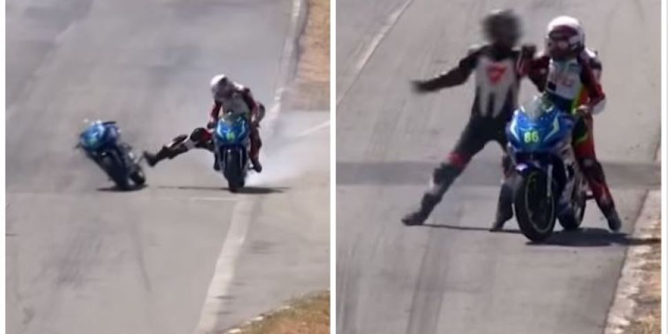 Rider Mounts Other Bike And St...
