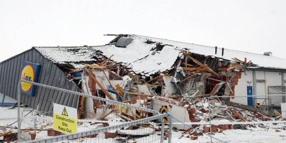 Lidl Store Destroyed During St...