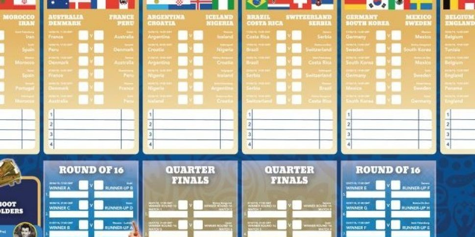 Get Your Full Colour World Cup...