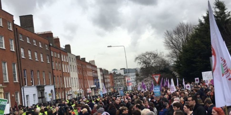 Thousands Gather In Dublin To...