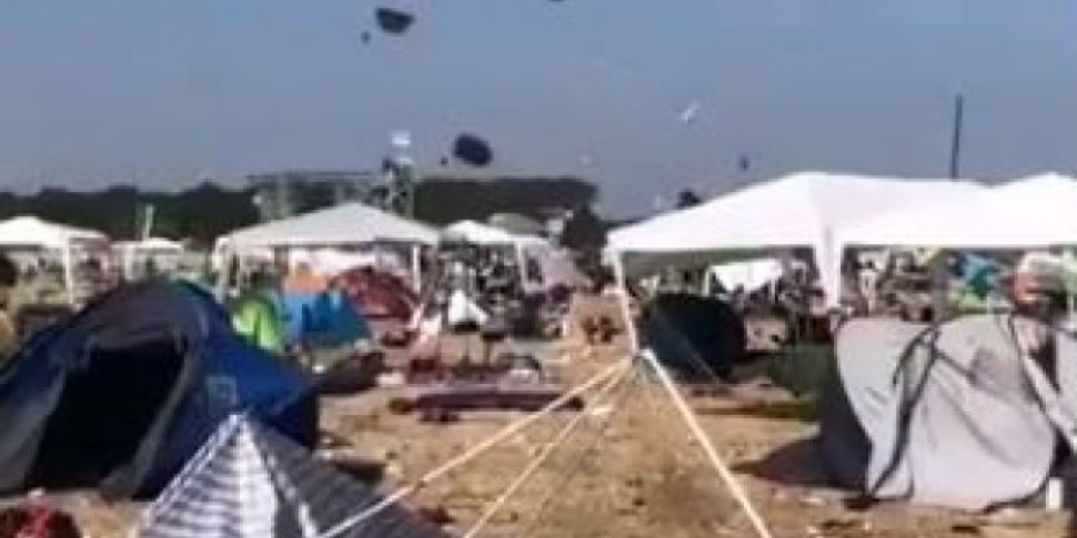 Dust Devil Sends Tents Flying...