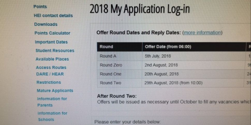 First Round CAO Offers Out Tod...