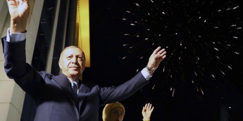 Turkish President Erdogan Tigh...