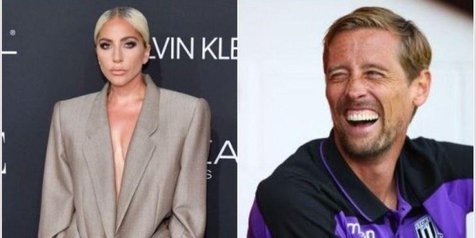 Peter Crouch Trolls Lady Gaga...