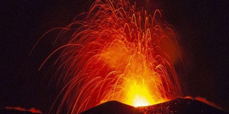 Mount Etna In Fiery Eruption